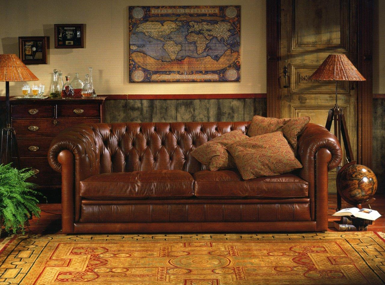 Chesterfields chaises anglais r gence queen ann chippendale tudor duresta - Salon chesterfield ...