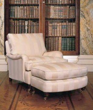 Lansdown fauteuil poef - Decoratie new england ...